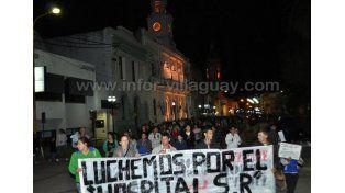 El lunes 2 de noviembre los vecinos de Villaguay realizaron la primera marcha. (Foto Infor Villaguay)