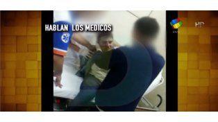 Las primeras imágenes de Matías Alé durante su internación y detención