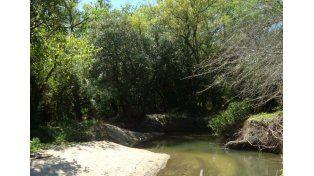 El arroyo lleva el nombre del Molino y tiene aguas cristalinas.