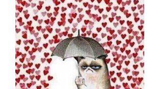 Los memes en contra de los corazones no tardaron en invadir las redes. Grumpy Cat  también se quejó del cambio.