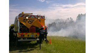 """Intencional. El jefe de los Voluntarios aseguró que los incendios son """"por la mano del hombre""""."""