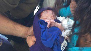 La beba abandonada presenta un buen estado de salud y evolución favorable