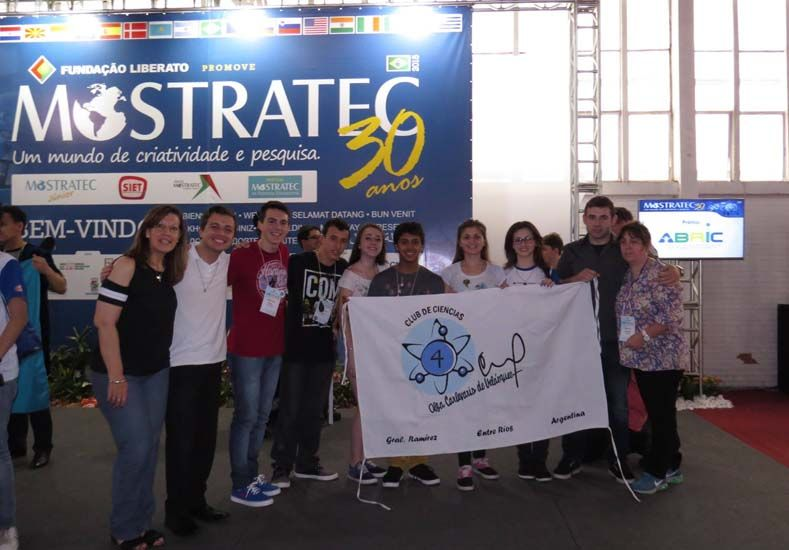 Alumnos de Ramírez se lucieron en Brasil.