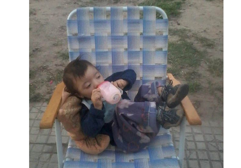 Daián Yuthiel Ortiz tiene 2 años y 8 meses. Nació con una discapacidad y Marianela