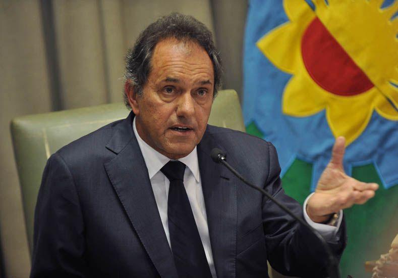 ¿Interna?.Scioli negó que haya diferencias en el seno del oficialismo