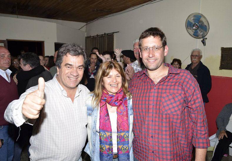 Festejos en la UCR. La candidata massista de Viale