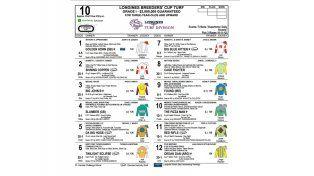 El programa y los millones. Ordak Dan y Ricardinho competirán con el número 12. El caballo del Stud Misterio competirá por un premio de 3.000.000 de dólares.