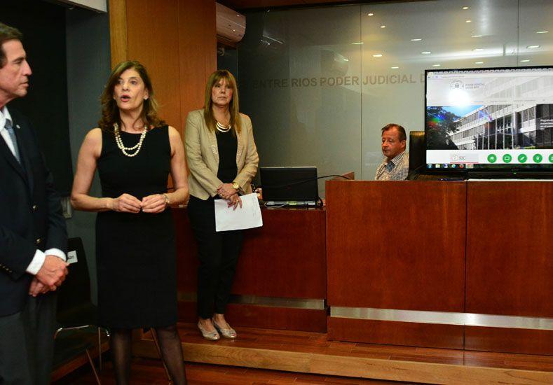 El Poder Judicial presentó su nuevo sitio web