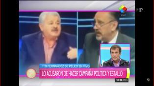 Fuerte cruce en vivo entre Tití Fernández y Guillermo Marconi