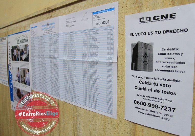 Muchos votantes prefirieron concurrir temprano a las urnas, antes que jueguen Los Pumas