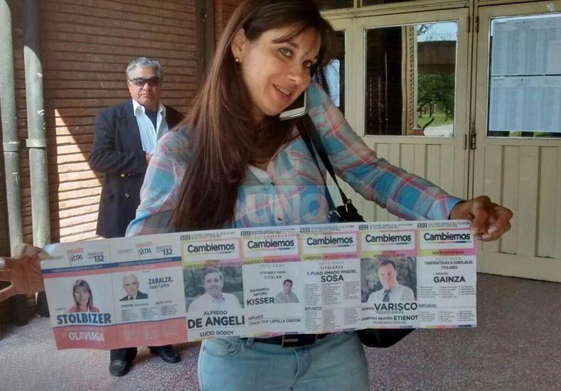 Las boletas  son falsas ya que no fueron autorizadas por la Justicia.  Foto UNO/Sebastián Gálligo