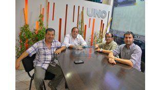Chapino y miembros de su comisión se reunieron con directivos de UNO.  Foto UNO/Juan Manuel Hernández