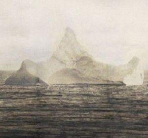 La foto del iceberg será subastada por la casa Aldrige and Sons.