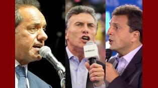 Particular. Solamente el peronista Scioli prometió ganar mañana. Tanto Mauricio Macri como Sergio Massa pidieron el voto para salir segundos y ganar en segunda vuelta.