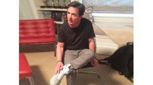 Michael Fox se probó las famosas zapatillas de la película
