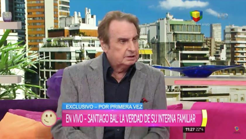 """Santiago Bal: """"Me duele horrores y mejor no hablar de mi hija"""""""
