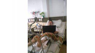 Larga recuperación. Toloza sigue internado y tiene para cuatro a seis meses inmovilizado.