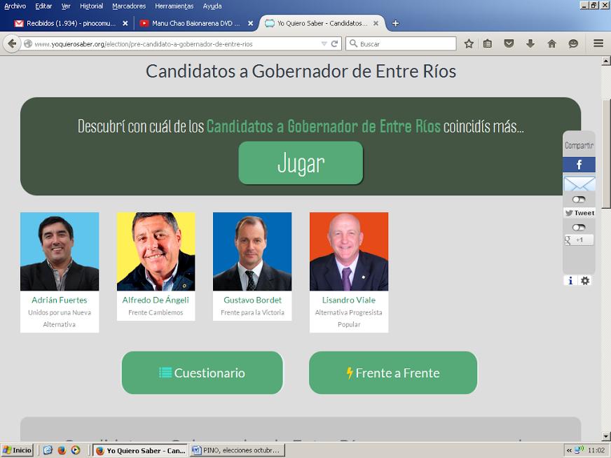 Un juego interactivo para conocer más a los candidatos a la gobernación