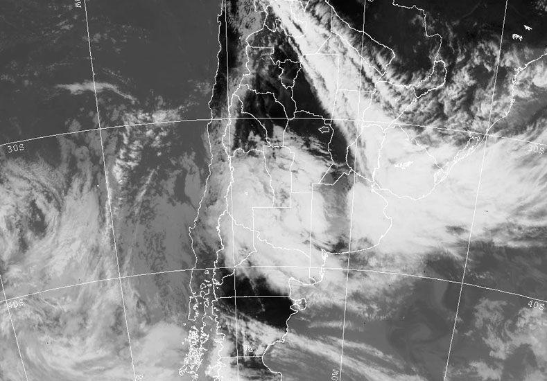 Imagen satelital del SMN.