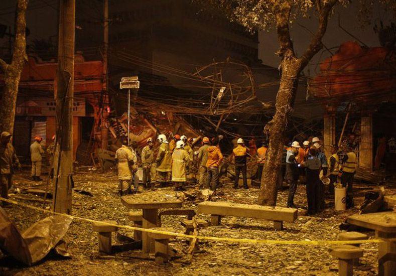Por una explosión en Río de Janeiro se desplomaron varios edificios