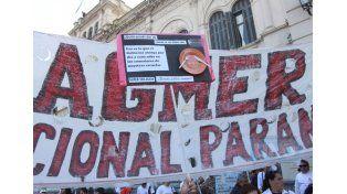 Agmer Paraná hará una asamblea frente a Casa de Gobierno.  Foto UNO/Archivo ilustrativa