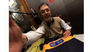 En el estudio de Radio La Voz