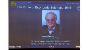 Premio Nobel de Economía al escocés Angus Deaton por su análisis de la pobreza.  Foto: Captura de video