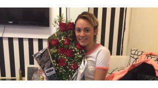 Rocío Oliva recibió un ramo de flores de Diego Maradona
