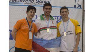Joaquín Franco en los más alto del podio