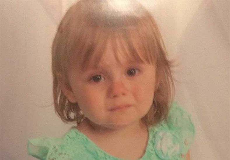 La pequeña de 2 años.  Foto: upsocl.com