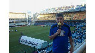 Una pasión. Ricardo Gauna comenta las alternativas de los partidos que juega el Xeneize desde hace 10 años.