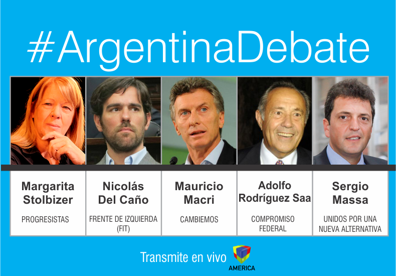 Cinco candidatos presidenciales debaten sobre sus propuestas de cara a las elecciones del 25
