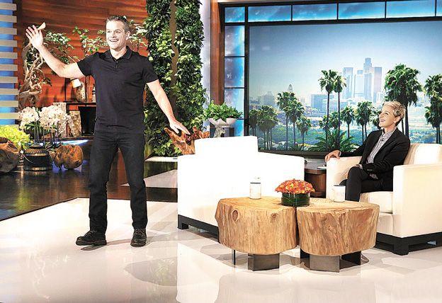 Sonrisas y aclaraciones. Matt Damon fue al show de Ellen DeGeneres para aclarar sus dichos.