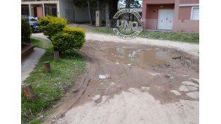 Agua en las calles de Paraná