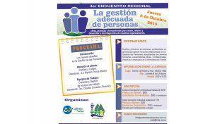 Se realizará el 3° Encuentro Regional sobre La gestión adecuada de personas