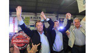 Juntos. Macri junto a Varisco y Benedetti