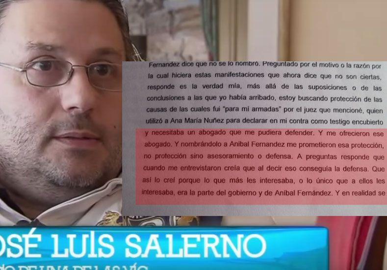 Salerno se desdijo en Tribunales: Aníbal ya no es La Morsa