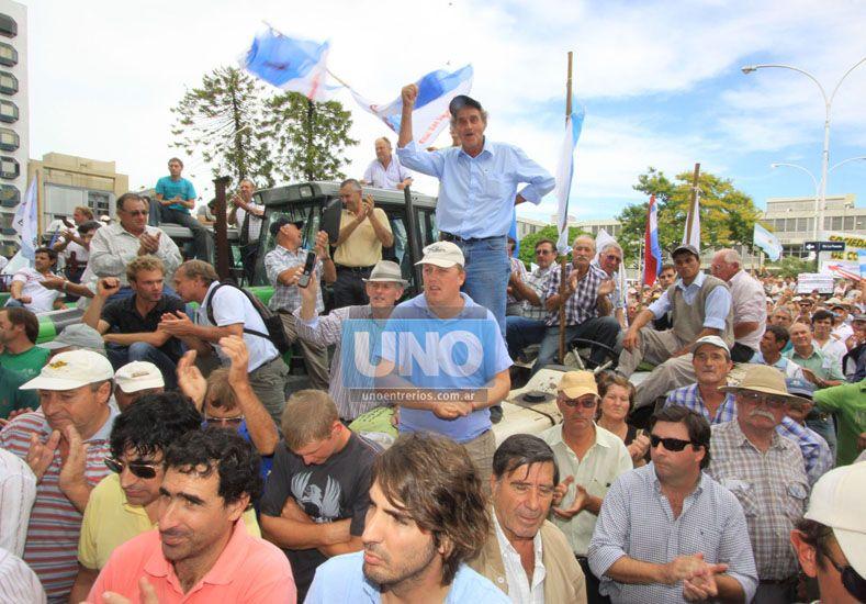 Tiempo. El apoyo popular que el sector logró en 2008 se fue diluyendo. (Foto UNO/Juan Ignacio Pereira)