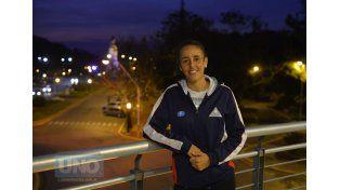 Micaela cerca de un gran anhelo dentro de su carrera en el deporte de la pala.  (Foto: UNO/Mateo Oviedo)