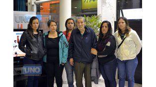 Esposo e hijas de María Cristina Silaur. Foto UNO/Archivo