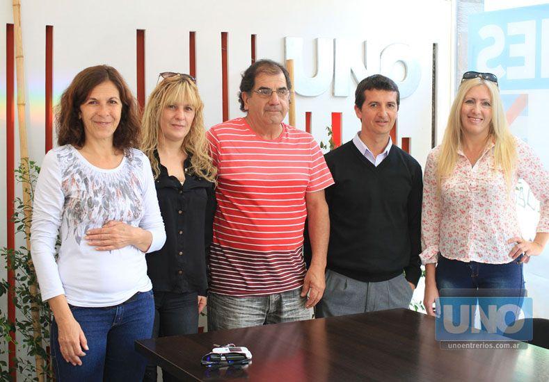 Trabajo conjunto. Los organizadores visitaron diario UNO.  Foto UNO/Juan Ignacio Pereira