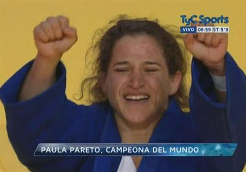 Pareto se consagró campeona del mundo.  Foto: Captura de TyC Sports