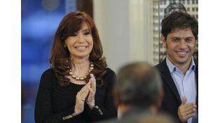 Cadena. Cristina habló en Casa de Gobierno sobre varios temas.  Foto: Télam