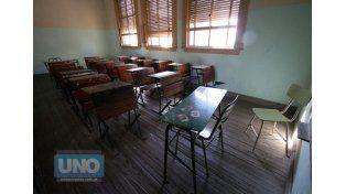 Vacías. Un nuevo paro paralizará la actividad en las escuelas. Foto UNO/Juan Ignacio Pereira
