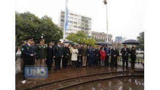 Legado. En Paraná destacaron el papel militar y también pedagógico del General San Martín.  Foto UNO/Diego Arias