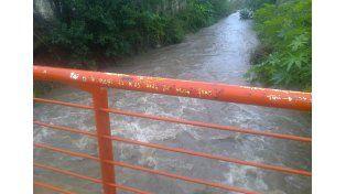 Correntoso. El comportamiento de los arroyos es controlado por la Junta de Defensa Civil.   Foto Gentileza/Cristian Masetto.
