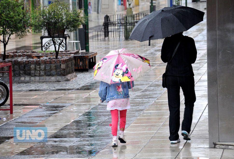 Feriado con lluvia