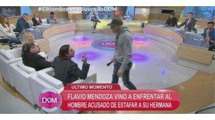 Feroz escándalo con Flavio Mendoza y el hombre acusado de estafar a su hermana