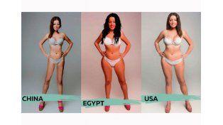 """El """"cuerpo ideal de mujer en 18 países distintos"""