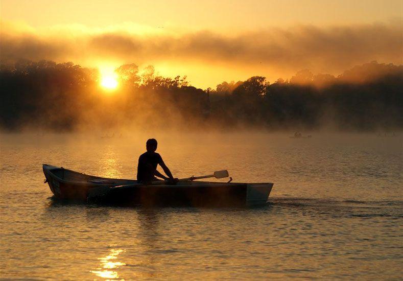 Amanecer. Apreciar la salida y la puesta del sol